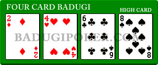 a Four Card Badugi Hand with same high card